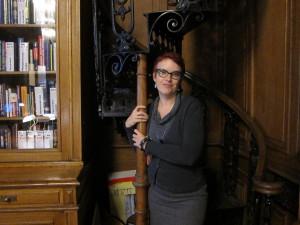 Me at the Mayakovsky Library